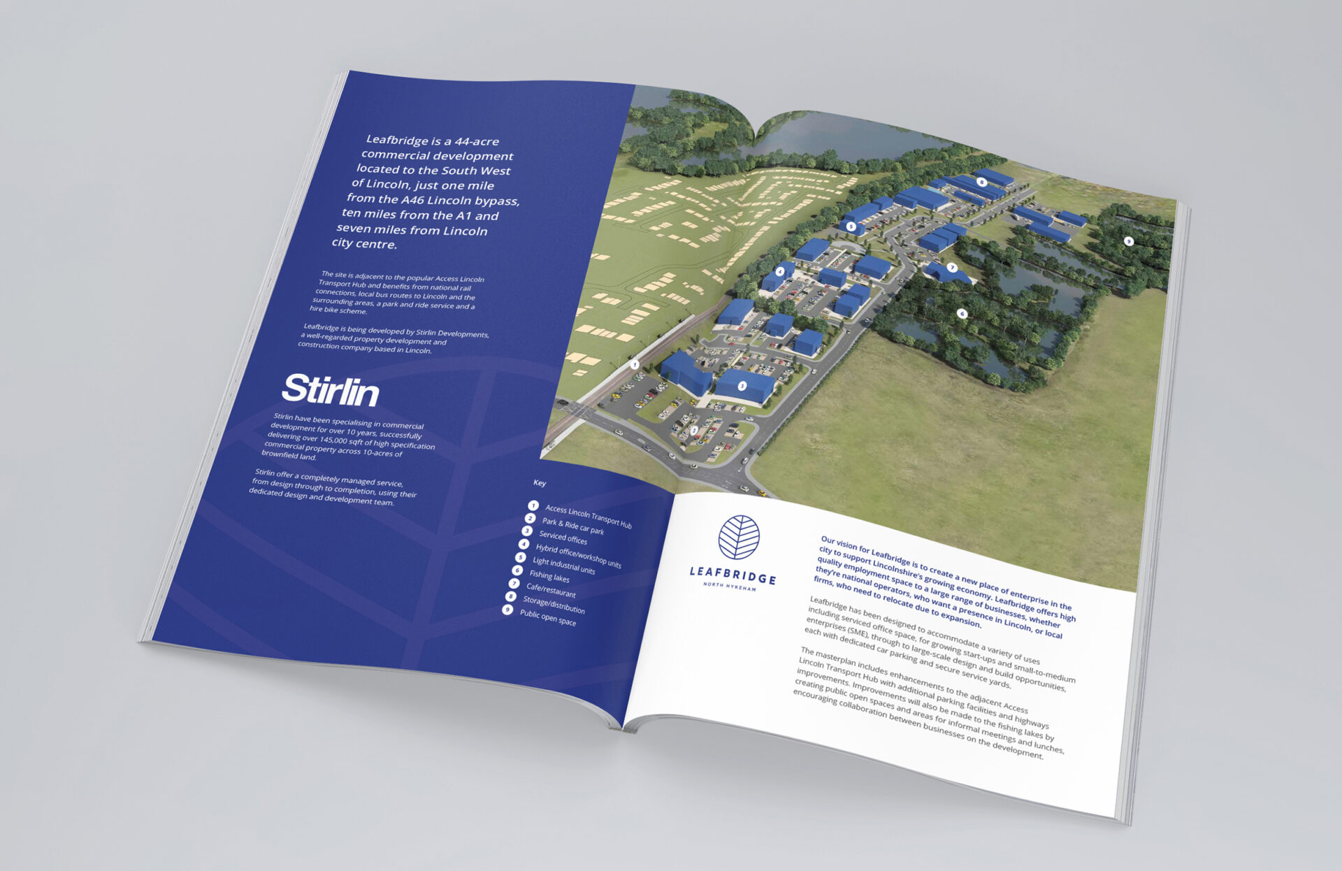 Stirlin – Leafbridge – Brochure Design