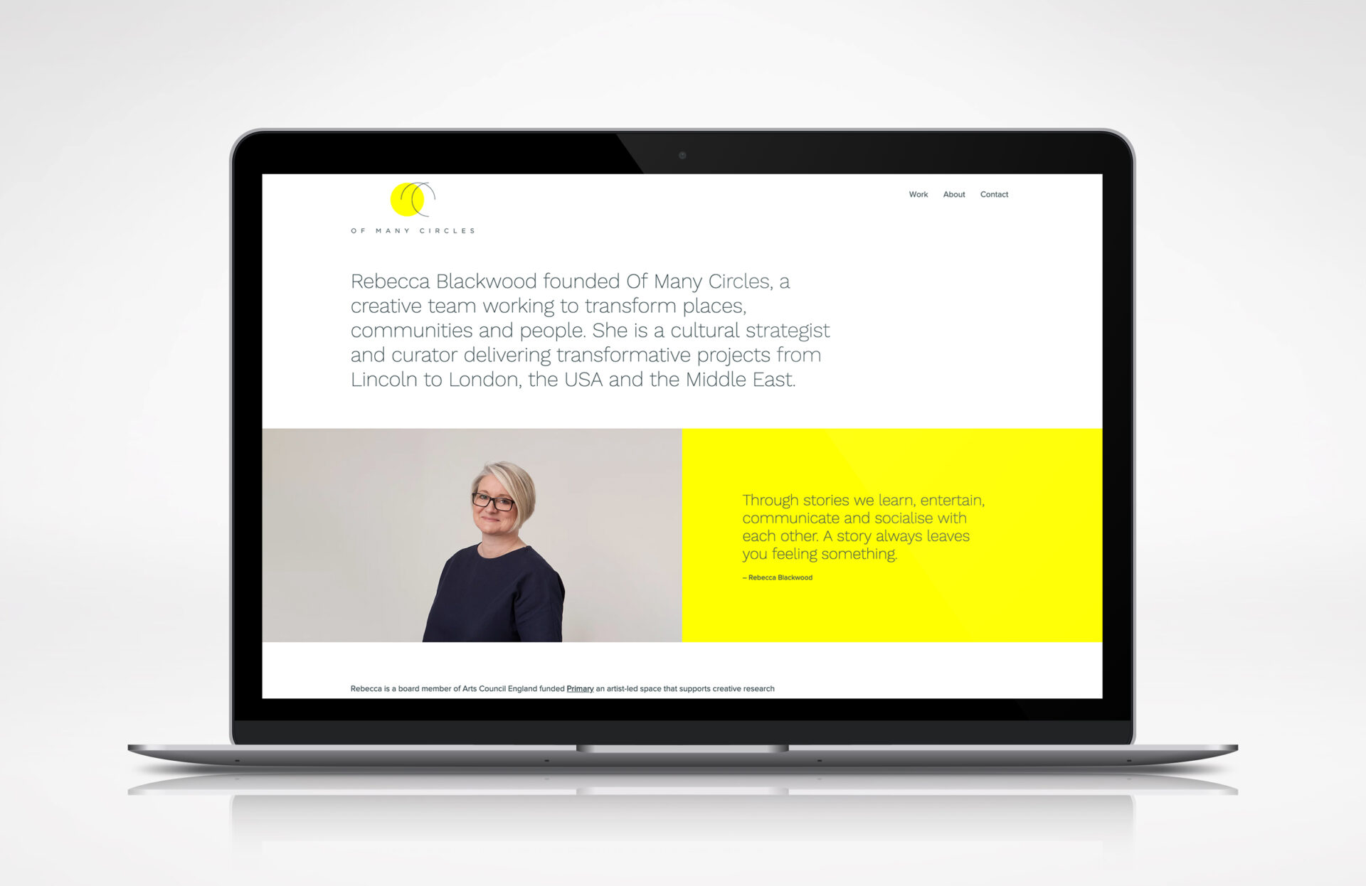Of Many Circles – Website Design