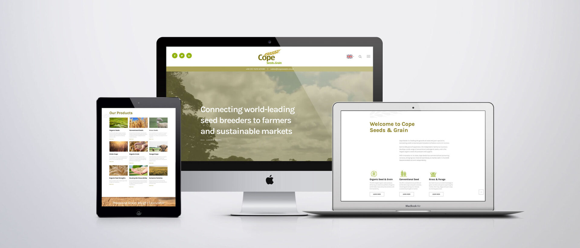 Cope Seeds & Grain – Website Design