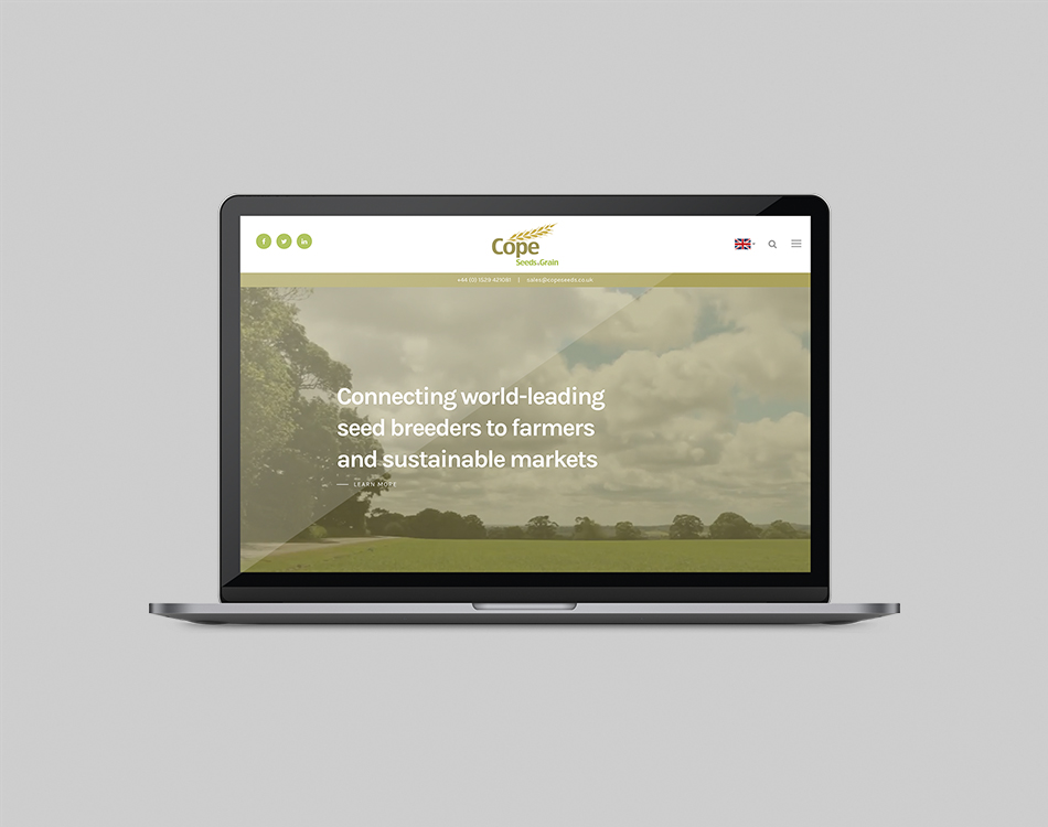 Cope Seeds & Grain website preview