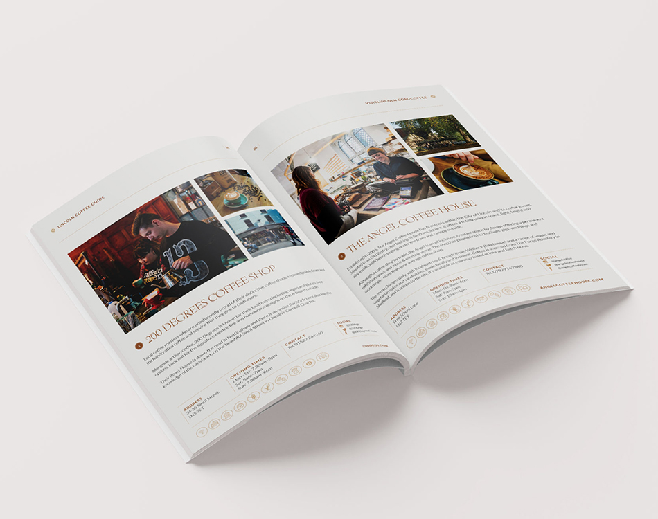 Lincoln Coffee Guide brochure design
