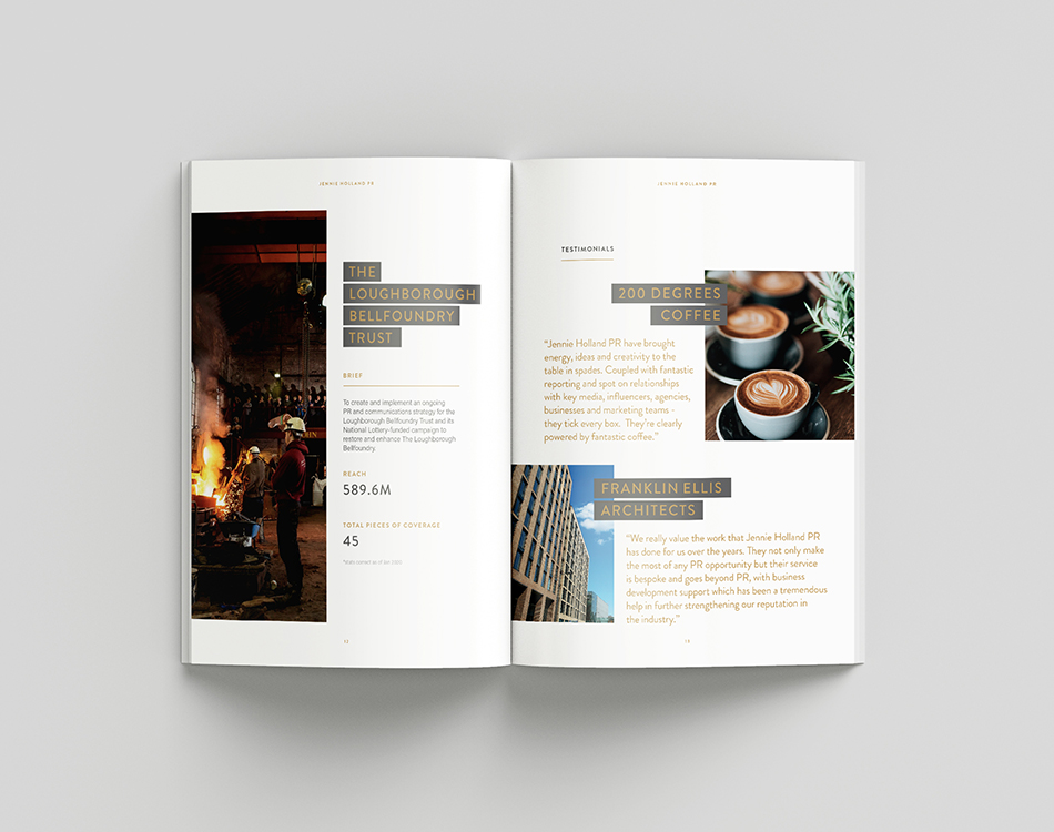 Jennie Holland PR – Brochure Design