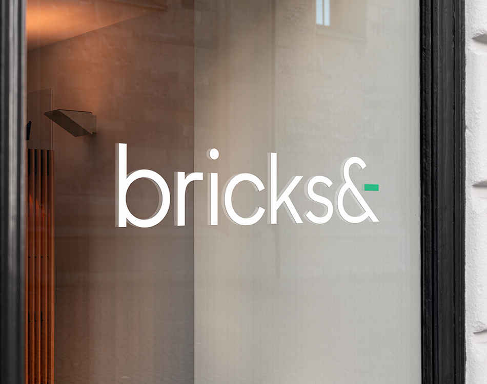Bricks&- Logo – On Window