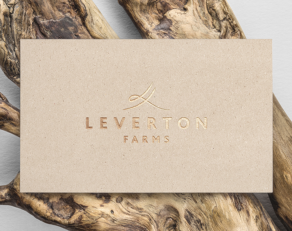 Leverton Farms – Business Card