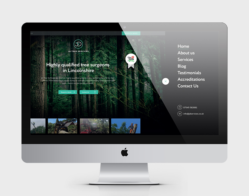 JD Tree Services website design preview