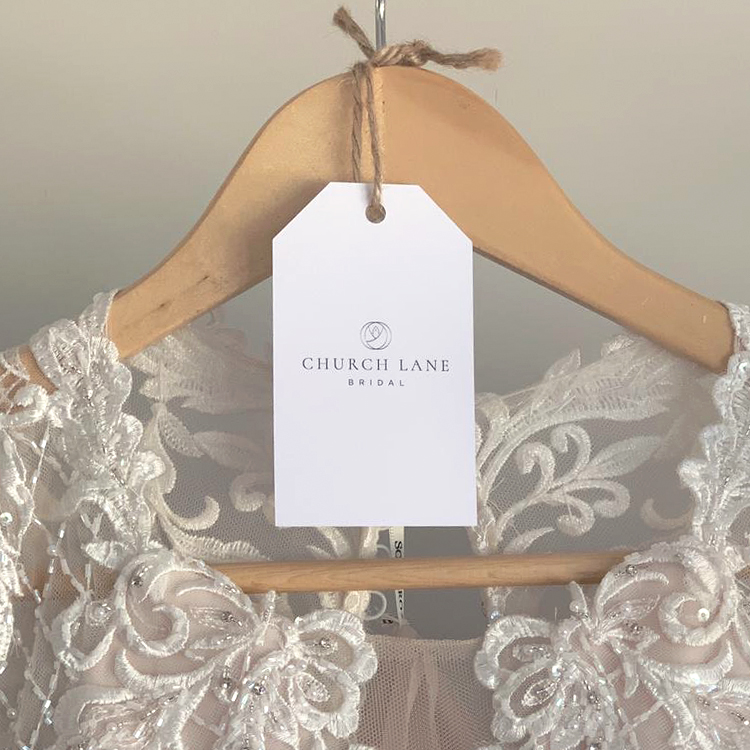 Church Lane Bridal branding label