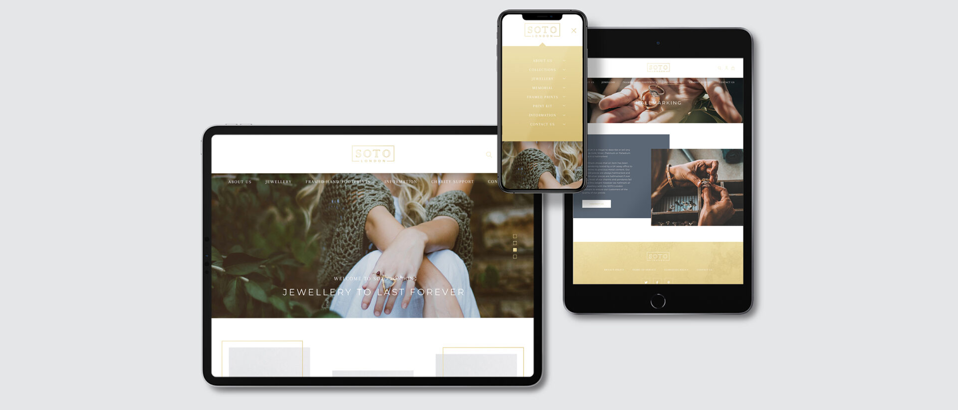 SOTO London – Website Design