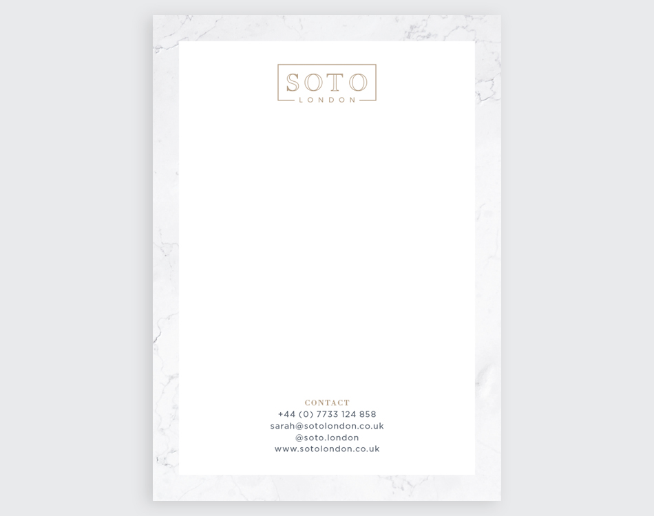 SOTO LONDON – Stationery